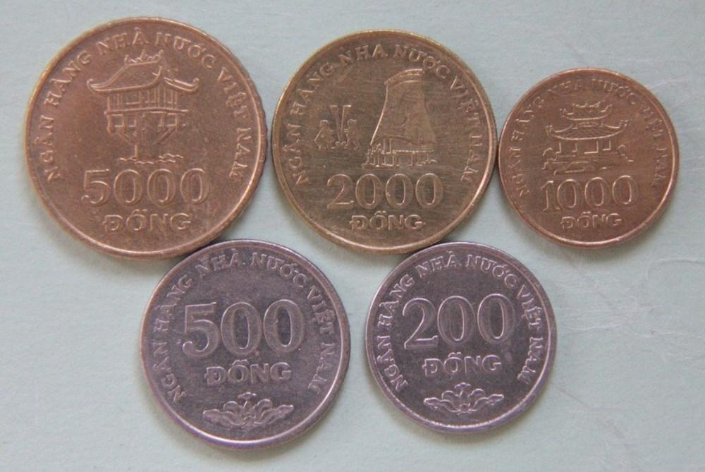 Hình ảnh tiền kim loại Việt Nam