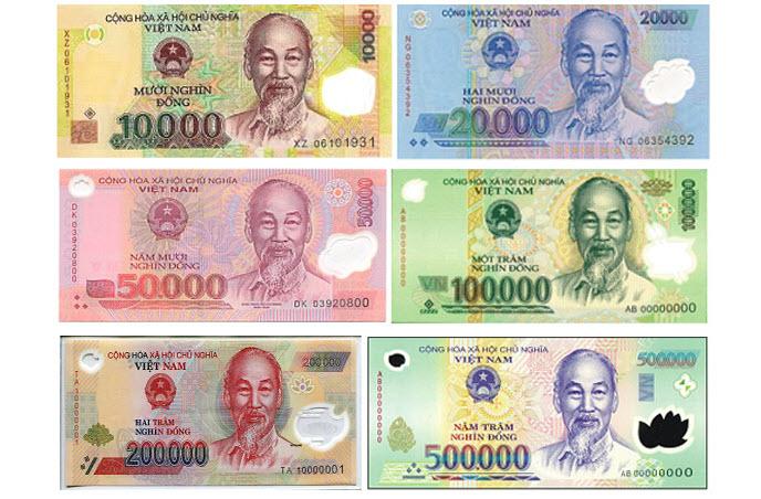 Hình ảnh tiền polime Việt Nam