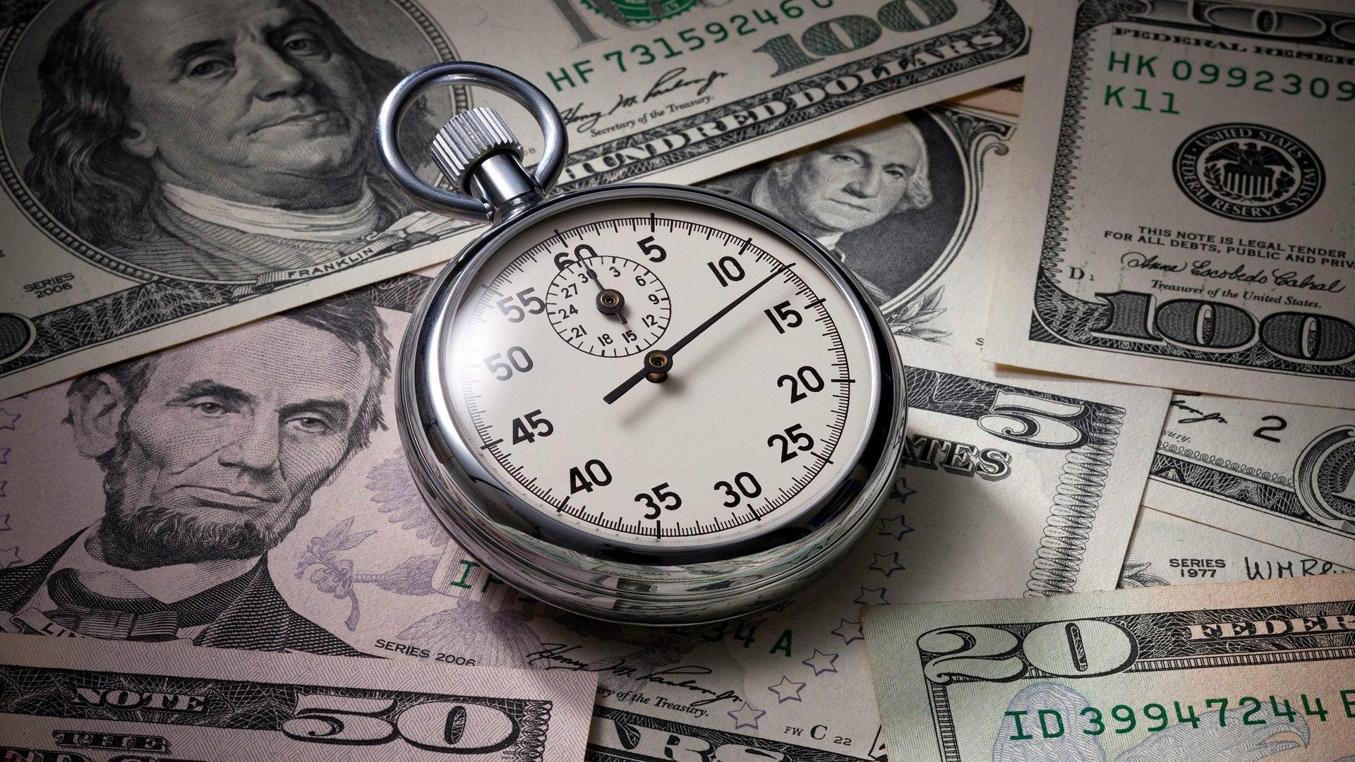 Hình ảnh tiền và thời gian