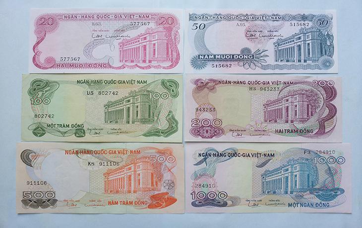 Hình ảnh tiền Việt Nam cộng hòa