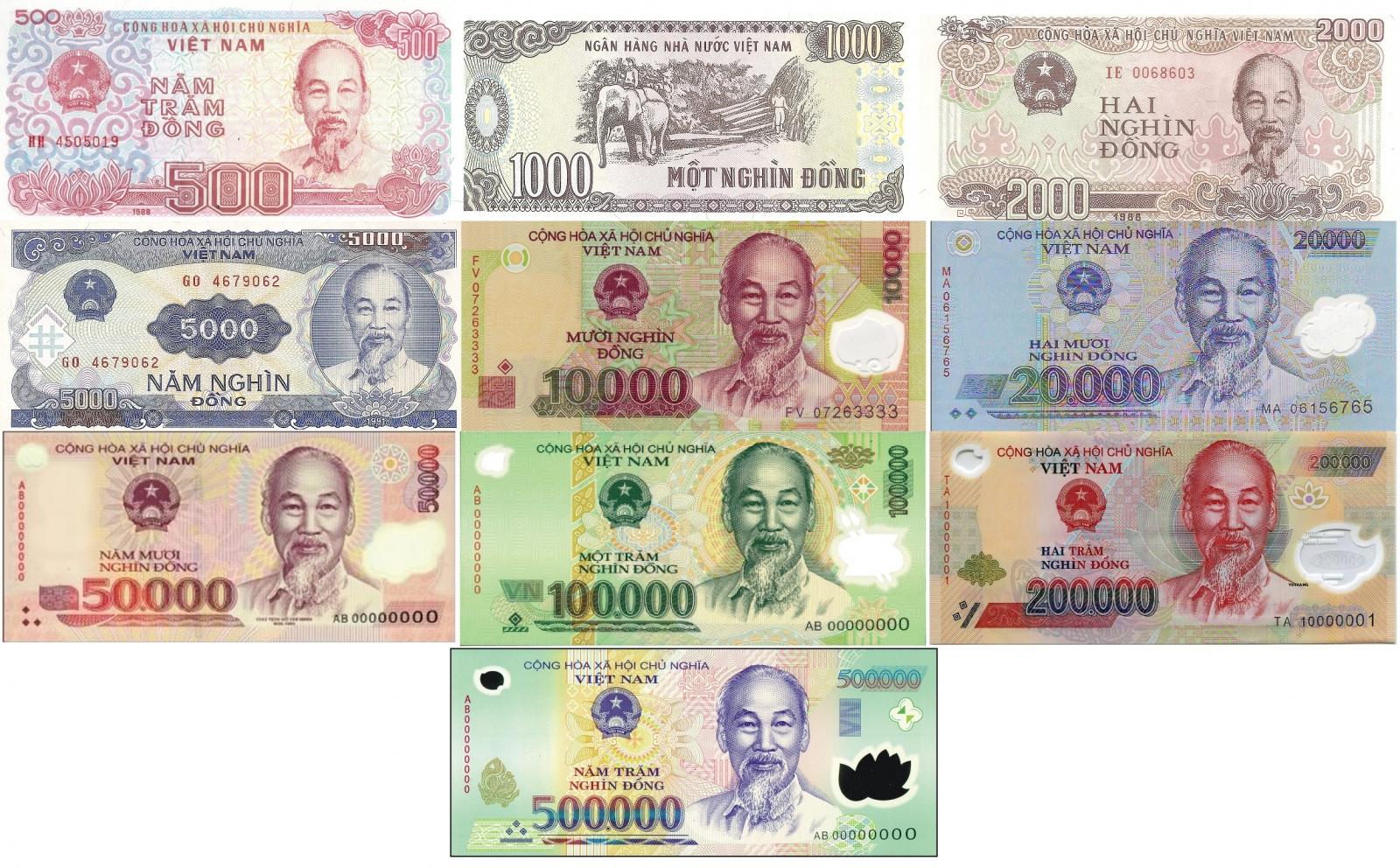 Hình ảnh tiền VN