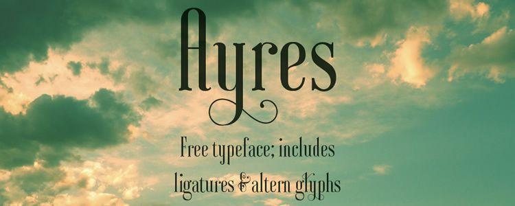 ayers-free-font-serif