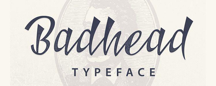 badhead-text-free-font-serif