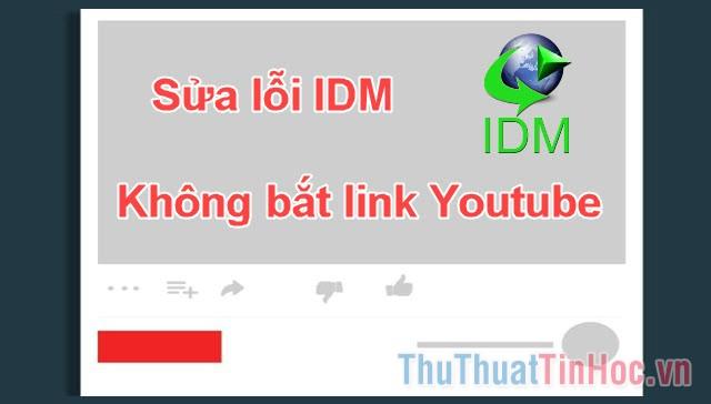 Cách sửa lỗi IDM không bắt link Youtube