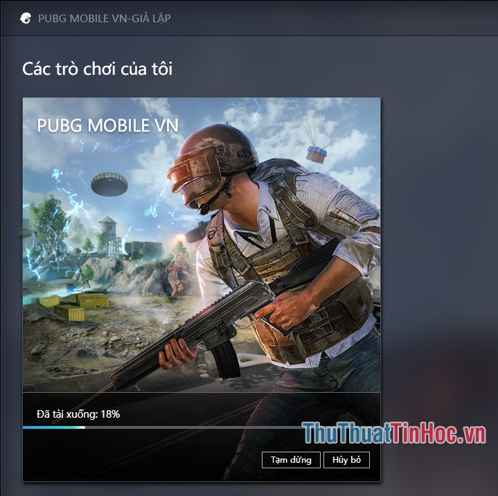 Phần mềm sẽ tự động tải trò chơi PUBG Mobile