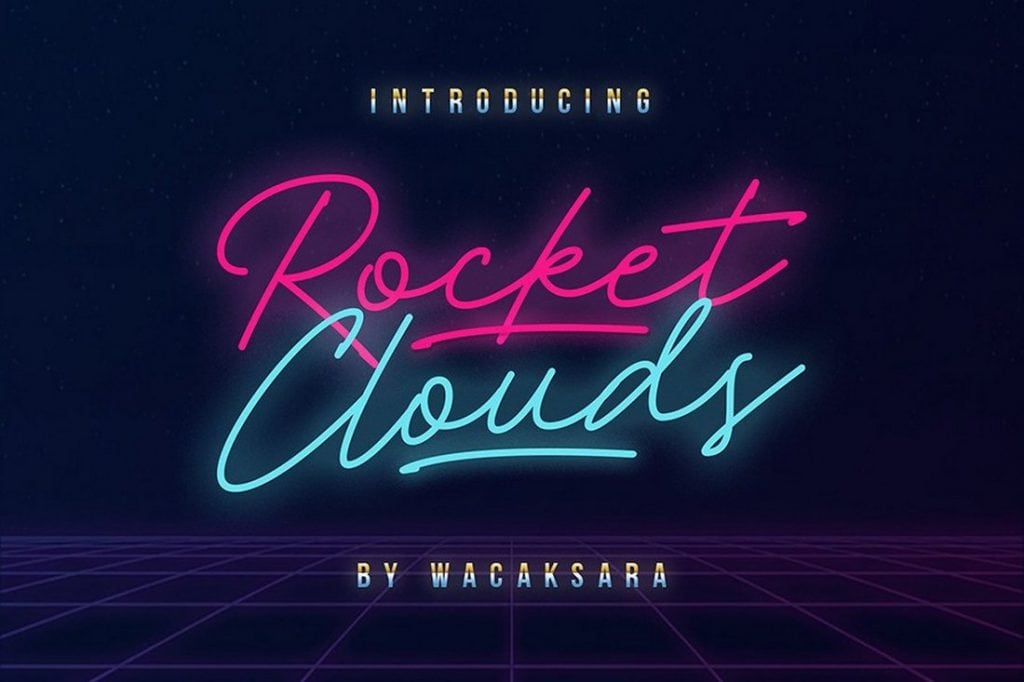 Rocket-Clouds-Free-Font-1024x682