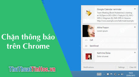 Cách tắt thông báo Chrome