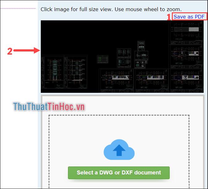Chuyển file dwg thành file PDF hoặc Click vào ảnh để xem