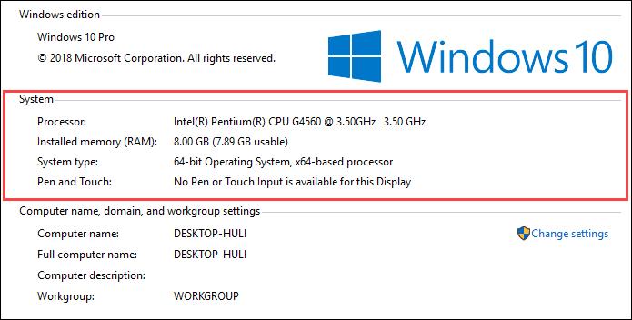 Xem thông số PC hoặc Laptop của mình