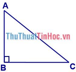 Công thức tính diện tích tam giác vuông