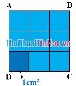 Tính diện tích hình vuông