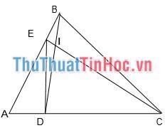 Tính diện tích tam giác CBD và EBD
