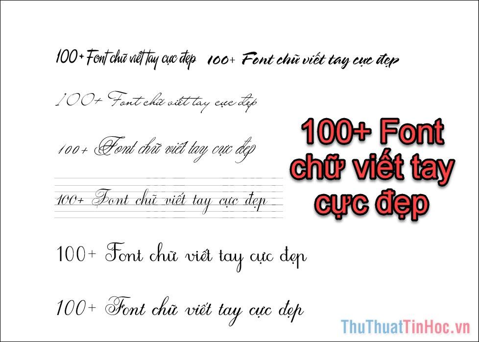 100+ Font chữ viết tay cực đẹp
