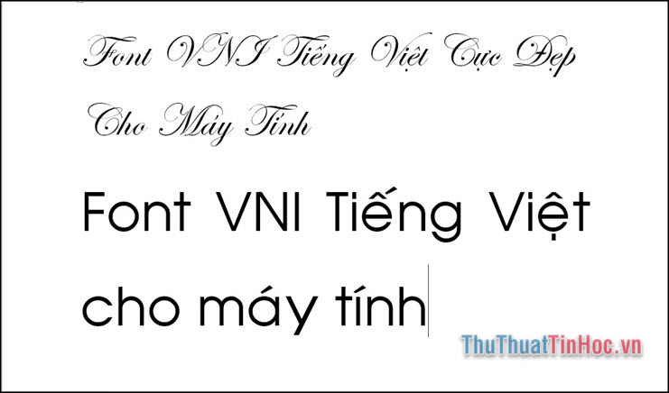Bộ font VNI chuẩn dùng cho máy tính