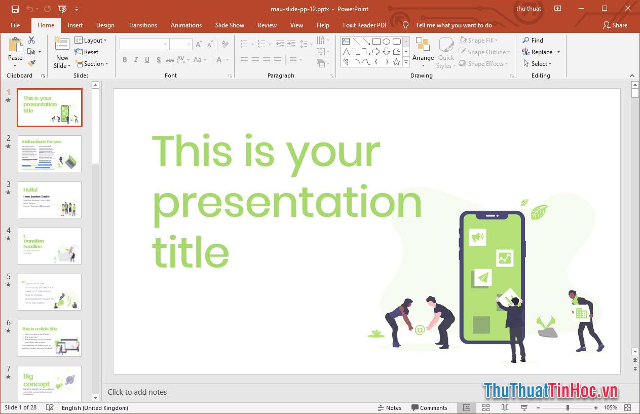 Mẫu slide thuyết trình Powerpoint cho làm việc nhóm