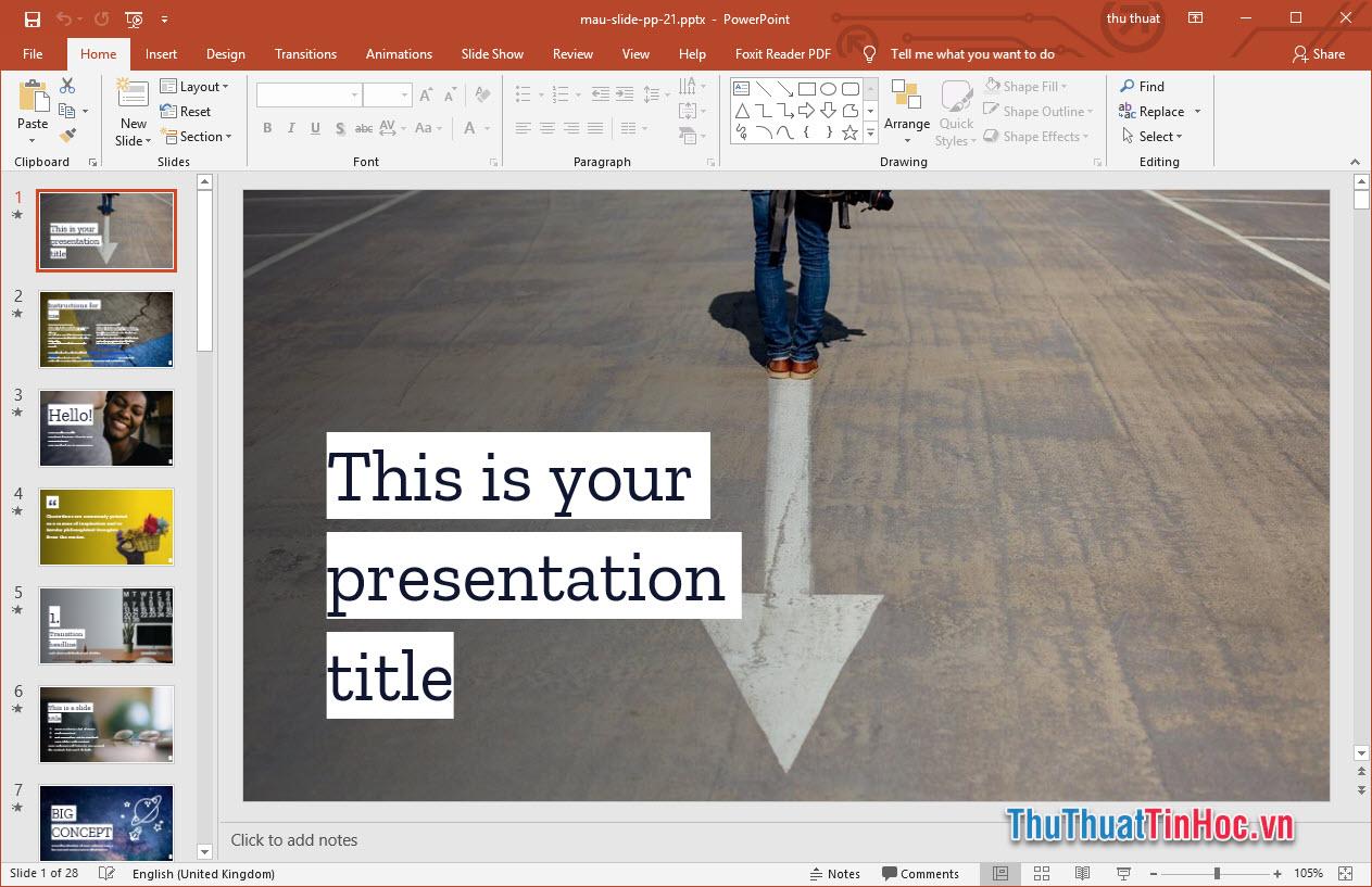 Mẫu slide thuyết trình Powerpoint cực đẹp