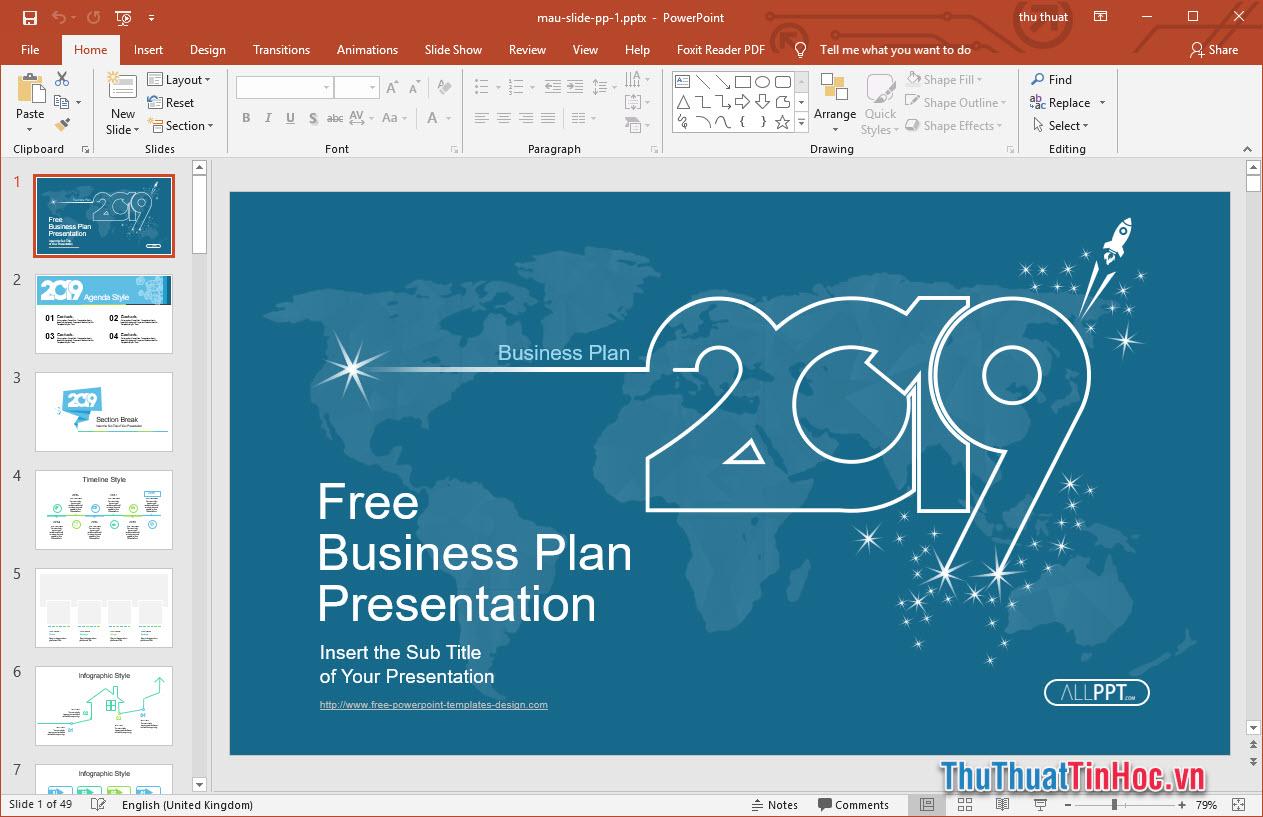Mẫu slide thuyết trình Powerpoint đẹp cho doanh nghiệp 2019
