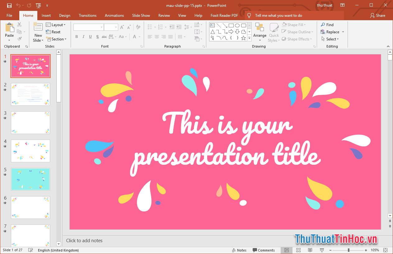 Mẫu slide thuyết trình Powerpoint nổi bật