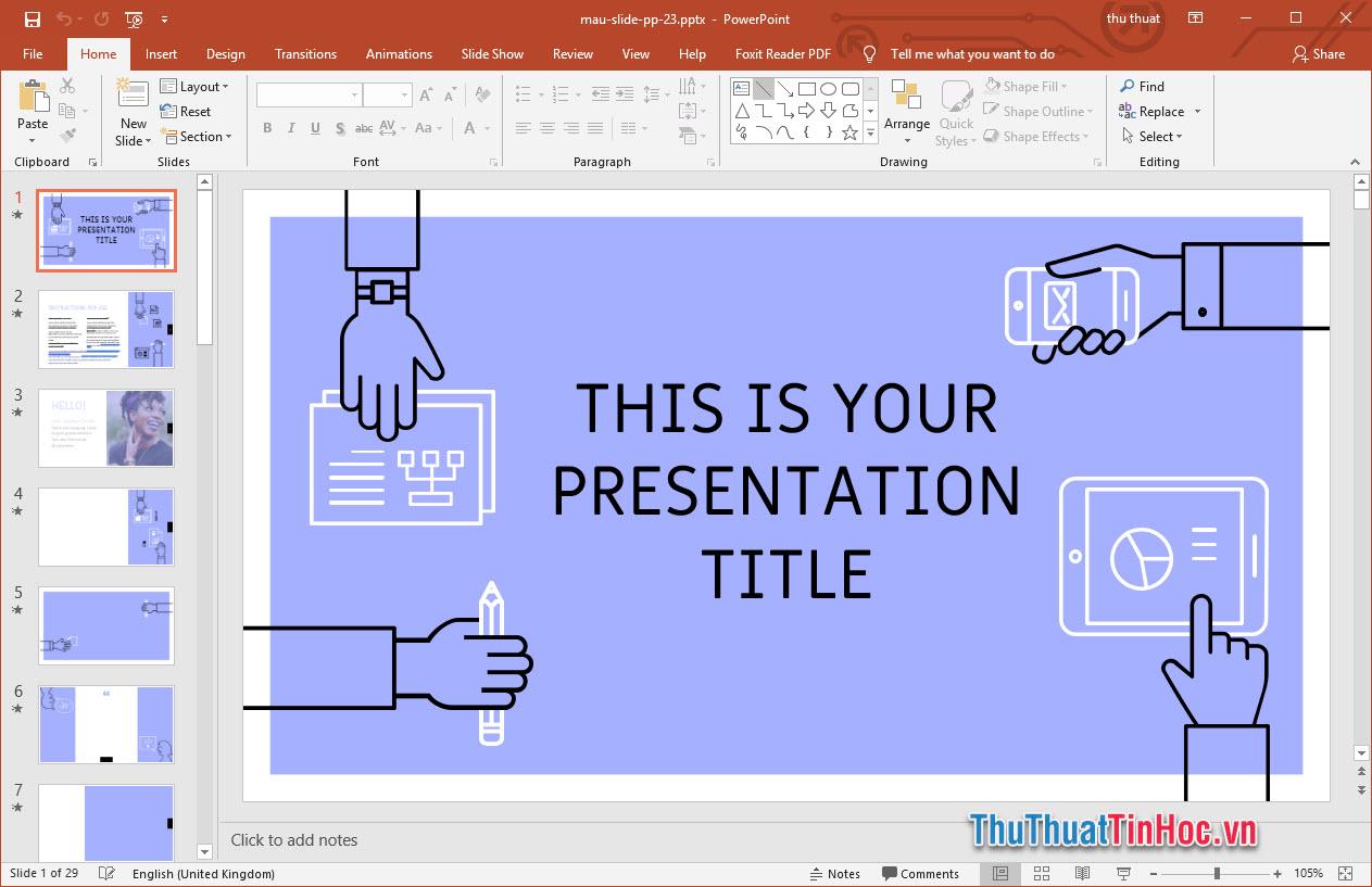 Mẫu thiết kế slide Powerpoint cho doanh nghiệp