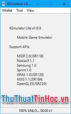 Mở phần mềm KEmulator