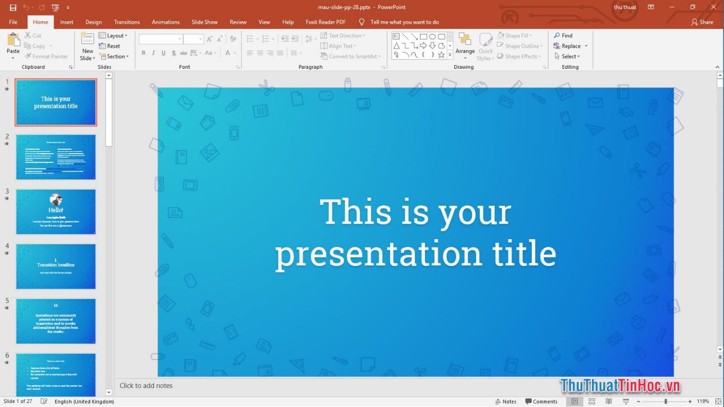 Slide đẹp cho học tập
