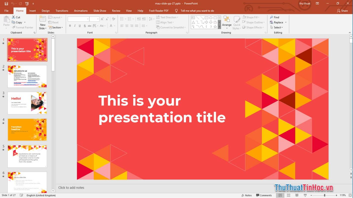Slide thuyết trình Powerpoint đẹp, nổi bật