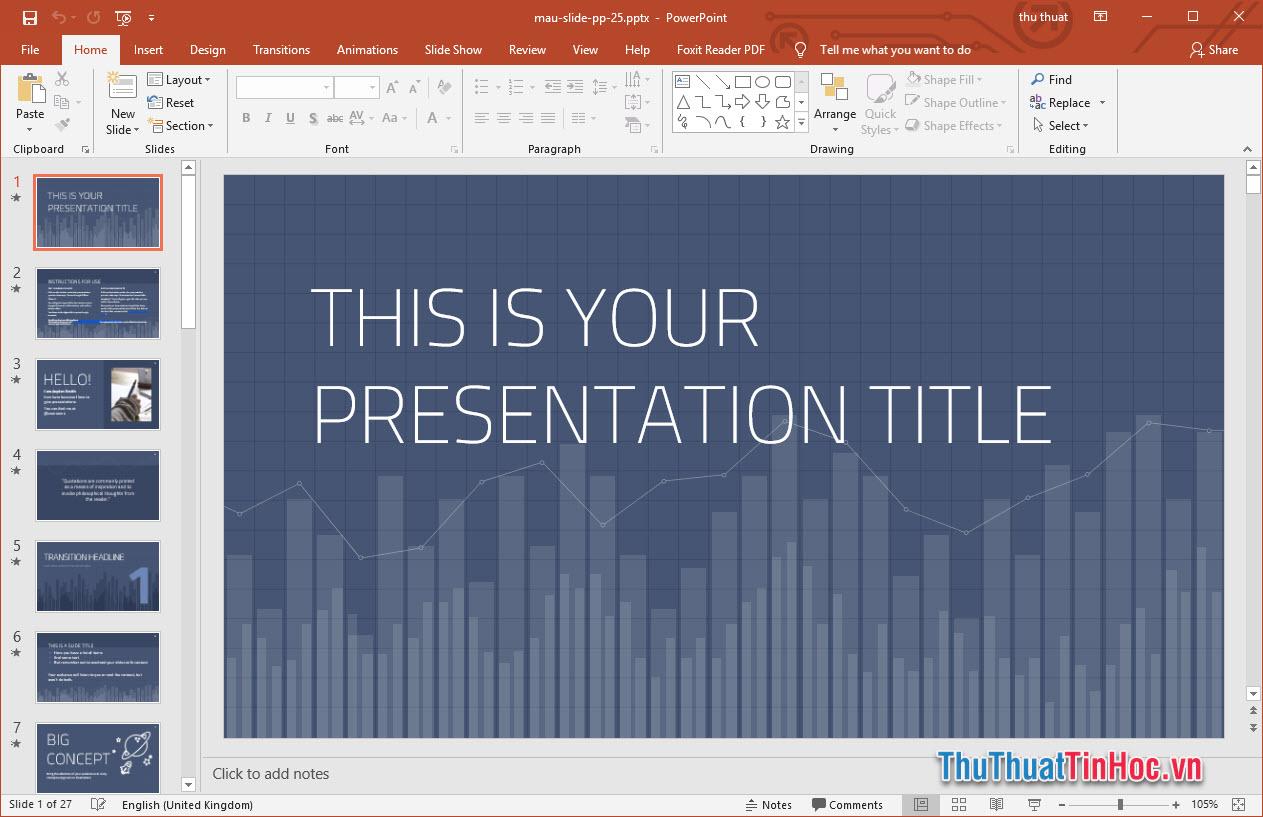 Slide thuyết trình Powerpoint đẹp