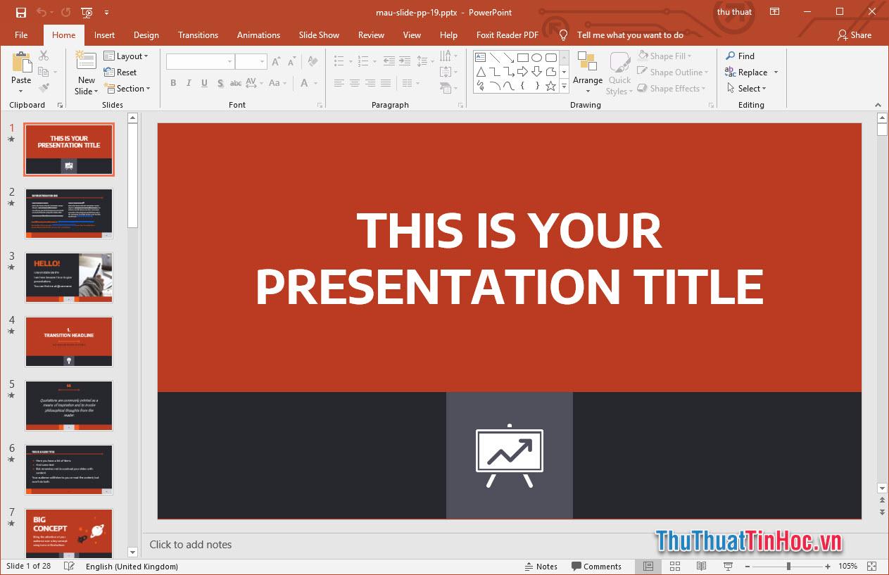 Template Powerpoint chuyên nghiệp