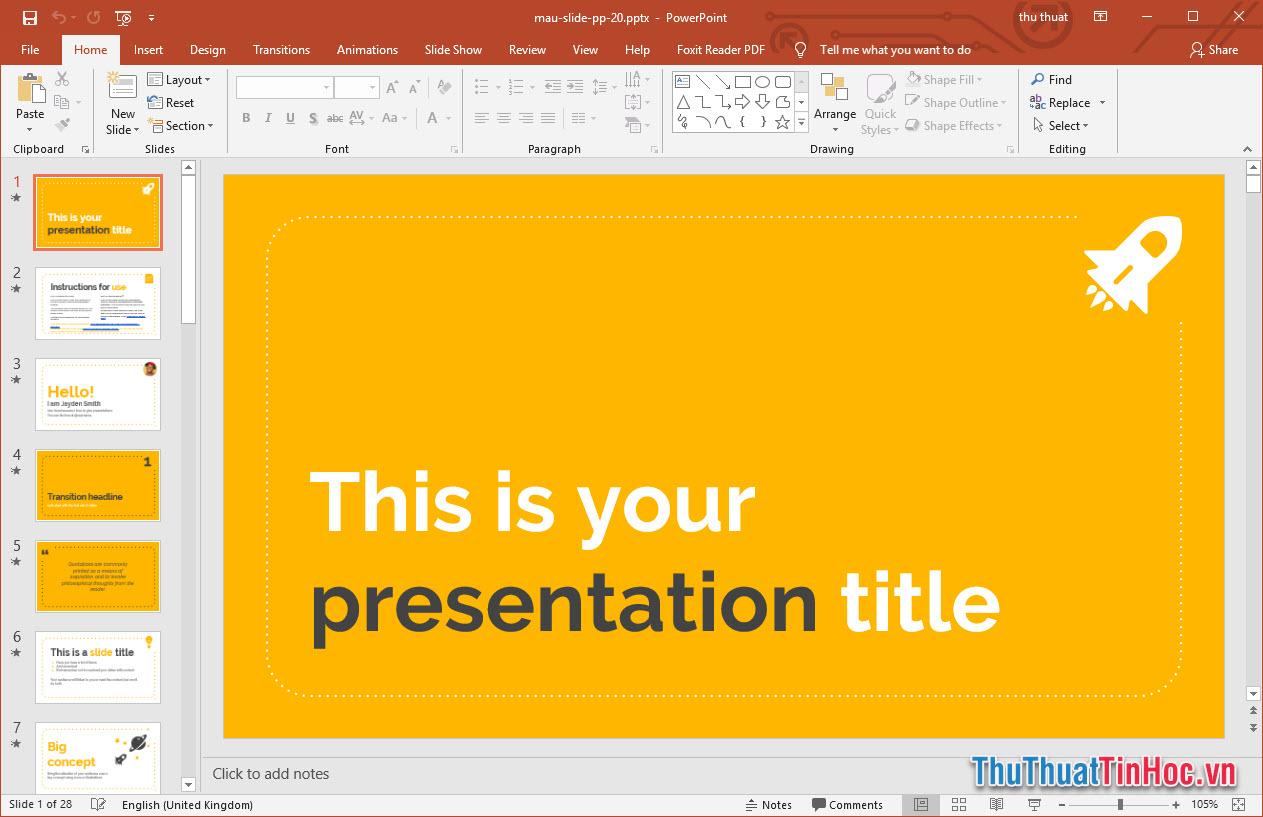 Template Powerpoint thuyết trình cực đẹp