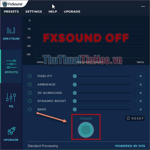 Điều chỉnh Bass, độ sâu âm thanh, âm thanh 3D, độ chân thật, môi trường