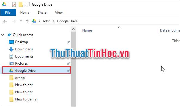 Tiến hành sao chép/kéo thả dữ liệu cần sao lưu vào thư mục Google Drive
