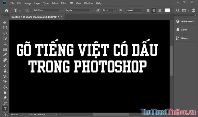 Cách gõ tiếng Việt có dấu trong Photoshop