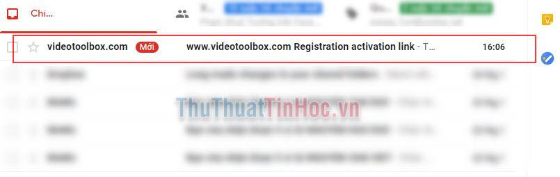 Mở thư của videotoolbox.com lên