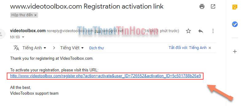 Nhấn vào đường link phía dưới để xác nhận đăng kí tài khoản