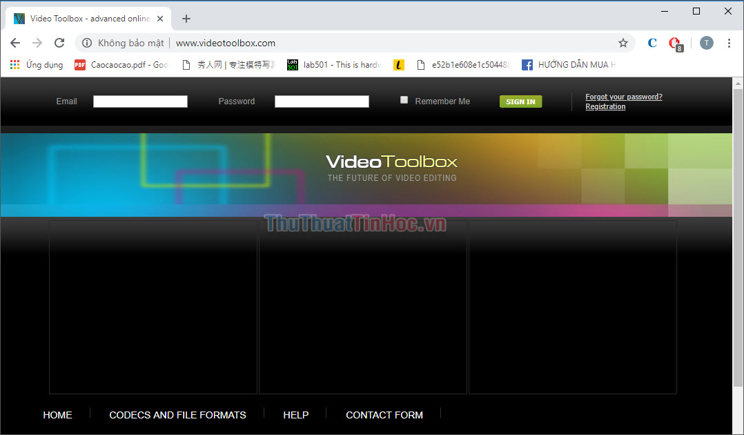 Phần mềm trực tuyến Video Toolbox