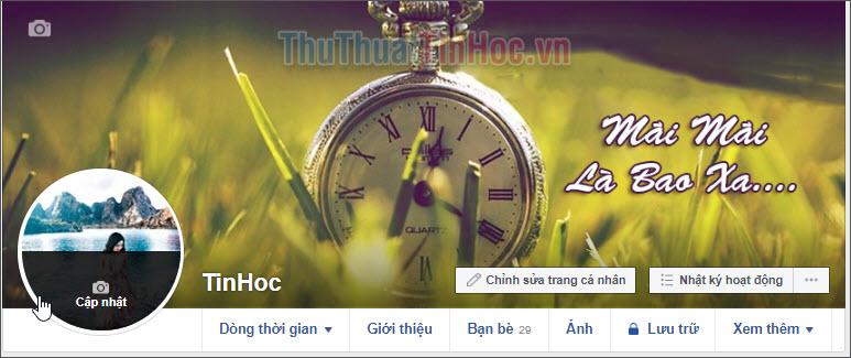 Tài khoản Facebook đã được đổi tên thành một chữ