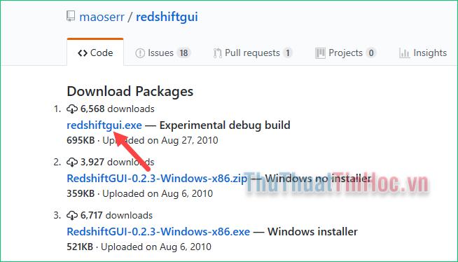 Tải phiên bản mới nhất của Redshift GUI