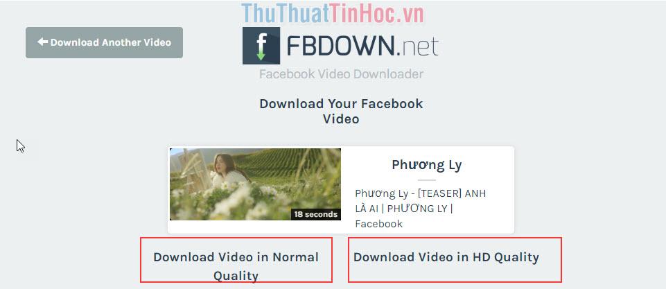 Có 2 sự lựa chọn tải video clip