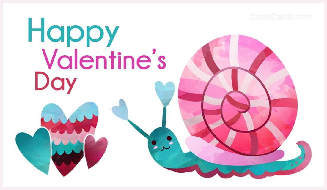 Hình ảnh ốc sên Valentine đáng yêu