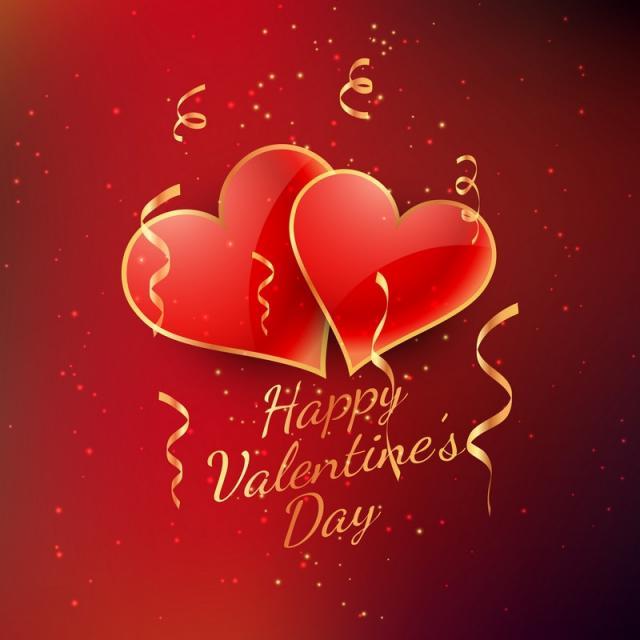 Hình ảnh trái tim đôi Valentine