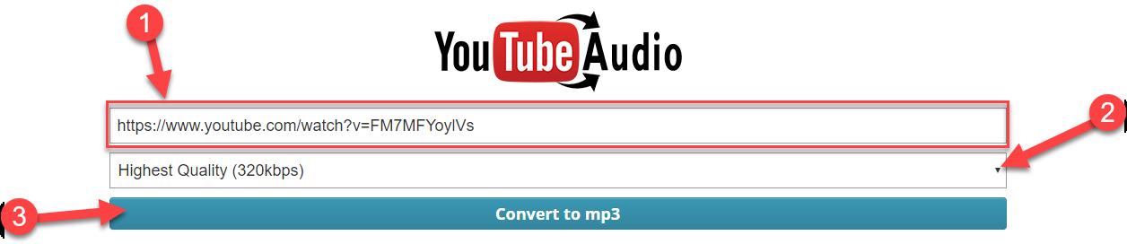 """Sao chép đường dẫn Youtube rồi dán vào ô """"Youtube URL"""""""