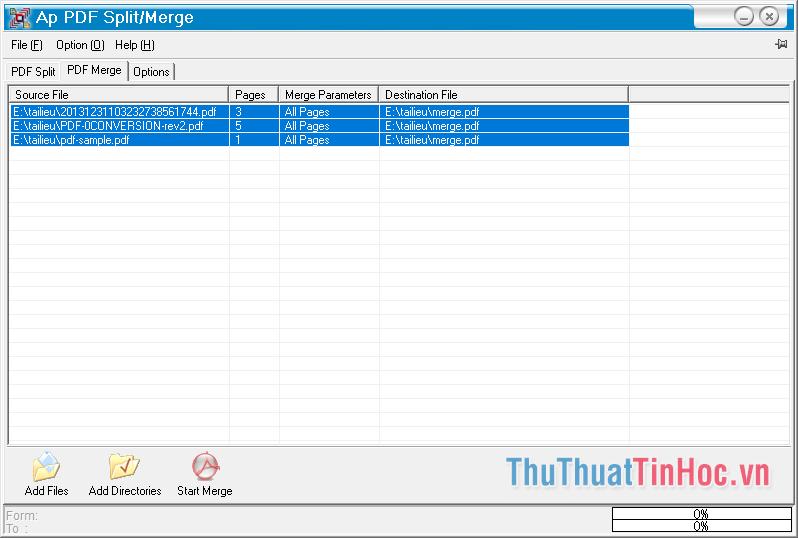 Phần mềm PDF Split/Merge