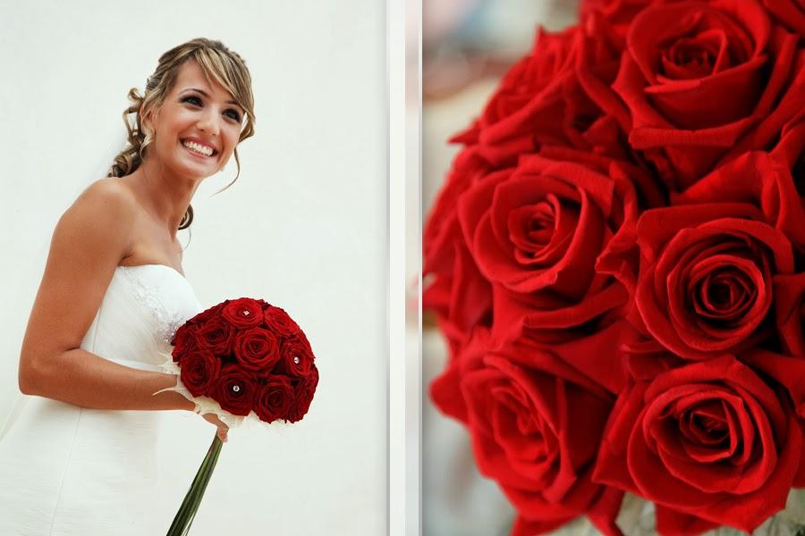 Bó hoa hồng đỏ cầm tay cô dâu đẹp nhất