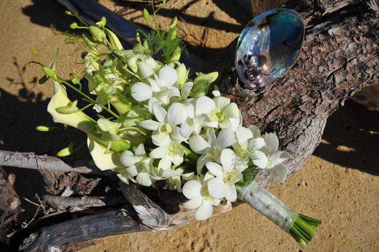 Hoa cưới cầm tay bằng hoa lan