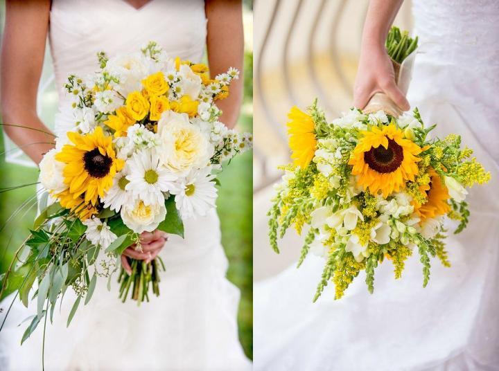 Hoa cưới từ hoa hướng dương