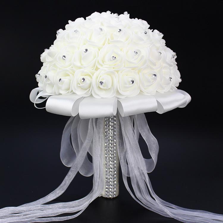 Mẫu bó hoa cưới màu trắng tinh khôi cực đẹp cho cô dâu ngày cưới