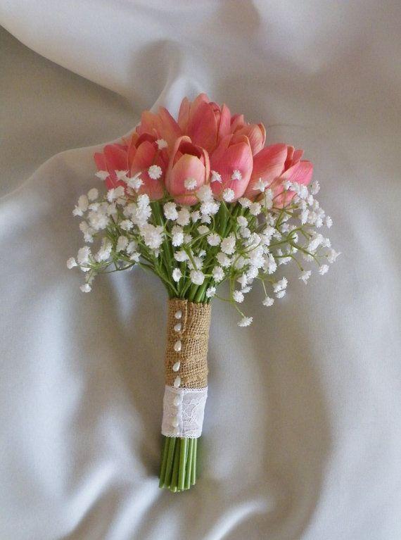 Mẫu hoa cưới cầm tay màu hồng đẹp