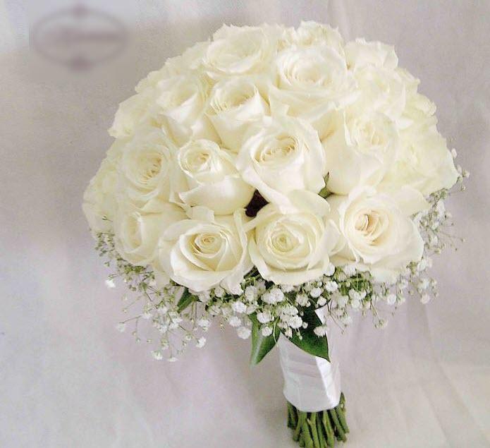 Mẫu hoa cưới màu trắng cực đẹp