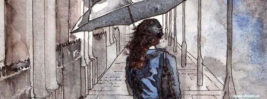 Ảnh bìa buồn cô lạc bước giữa con đường không người