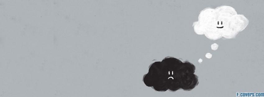 Ảnh bìa buồn facebook đám mây cũng biết buồn